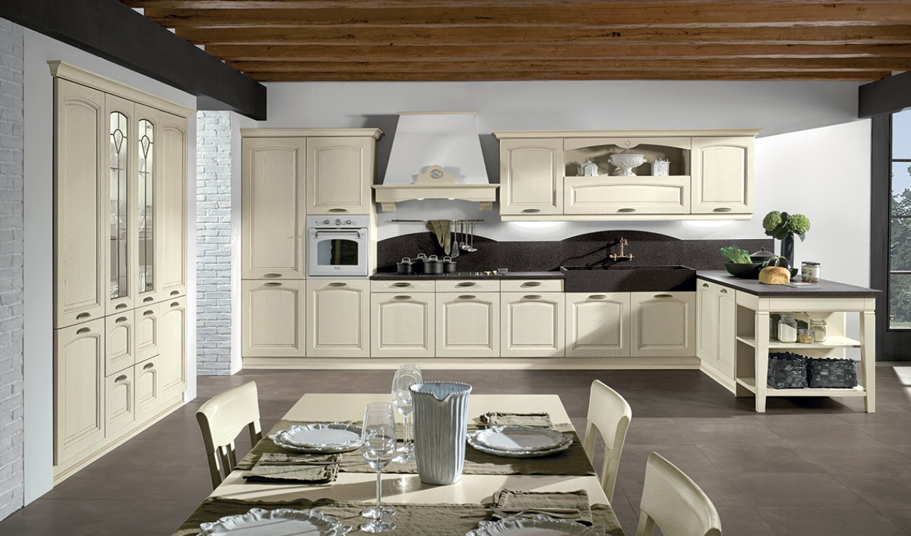 Cucine brescia classiche cucine in muratura country for Cucina moderna classica